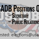 USADB Posisions Open: Secretary Public Relations
